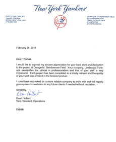 Tampa Landscapers Get New York Yankees Testimonial